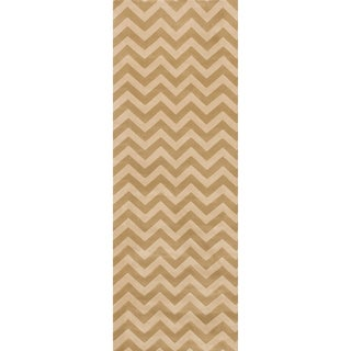 Presley Beige/ Ivory Chevron Rug (2'8 x 7'7)