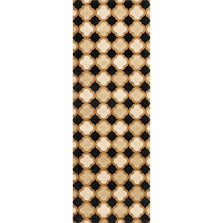 Presley Black/ Camel Rug (2'8 x 7'7)