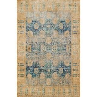 Contessa Blue/ Gold Rug (3'7 x 5'7)