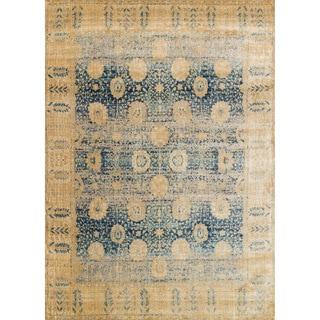 Contessa Blue/ Gold Rug (6'7 x 9'2)