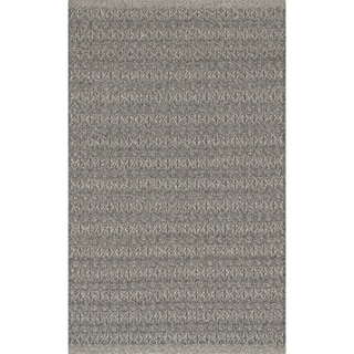 Indoor/ Outdoor Earth Tone Flatweave Graphite Rug (2'3 x 3'9)
