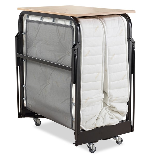 Jay-Be Hospitality Folding Bed with Deep Spring Mattress and Headboard