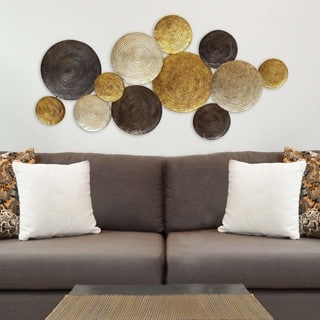 Stratton Home Decor Multi Circles Wall Decor|https://ak1.ostkcdn.com/images/products/11112812/P18115775.jpg?impolicy=medium