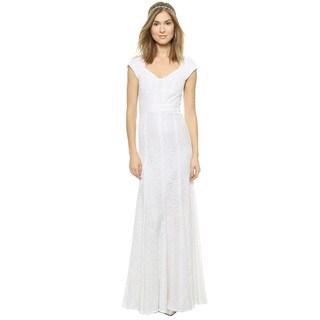 Diane Von Furstenberg Romantic DVF Maio Floral Lace Sweetheart Gown Dress
