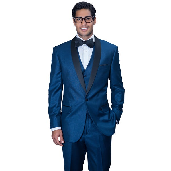 Men's Wynn Indigo 3-piece Statement Tuxedo