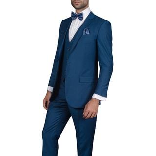 Link to Men's Wool Lorenzo Indigo 3-piece Statement Suit Similar Items in Suits & Suit Separates