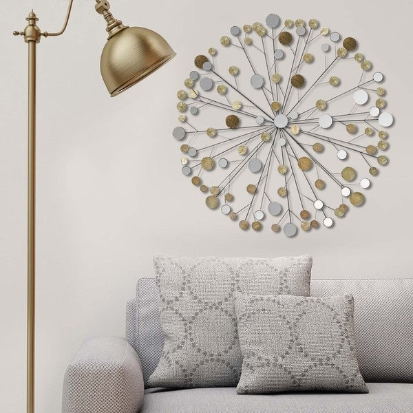 Merveilleux Stratton Home Decor Metallic Starburst Wall Decor