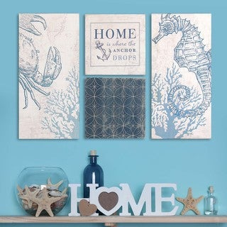 Stratton Home Decor Coastal Art (Set of 4)