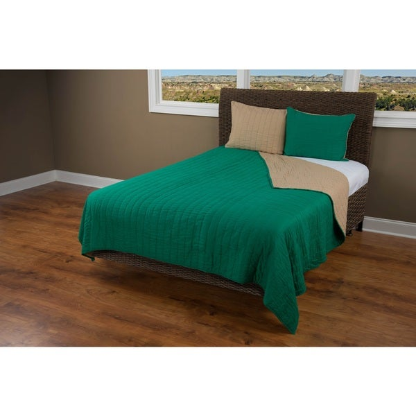 Rizzy Home Gracie Green Quilt