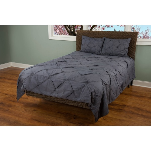 Rizzy Home Carrington Charcoal Grey Quilt