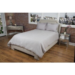 Rizzy Home Covington Silver Linen Duvet Cover