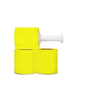 48 Rolls Yellow Hand Stretch Film Shrink Wrap 5-inch 80 Gauge 1000 Ft