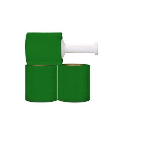Narrow Banding 5-inch 80 Gauge 1000 Ft Green Stretch Wrap Film 24 Rolls