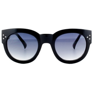 Epic Eyewear Horn Tipped Simple UV400 Fashion Thick Frame Sunglasses