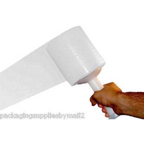 1296 Rolls White Hand Stretch Film Shrink Wrap 3-inch 80 Gauge 1000 Ft