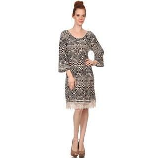 MOA Collection Women's Crochet Lace Trim Dress