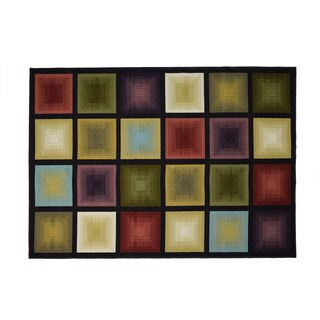 Optic Squares Area Rug - 4'11 x 6'11