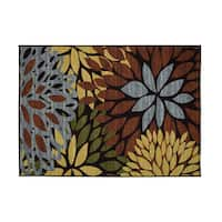 Cleopatra Floral Area Rug - 5' x 7'