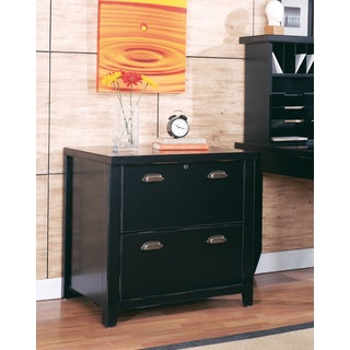 Tansley Landing Black 2-drawer Lateral File Cabinet