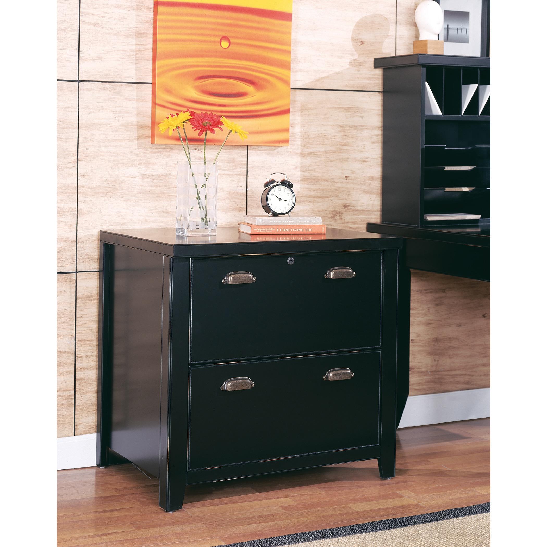 Tansley Landing Black 2 Drawer Lateral File Cabinet