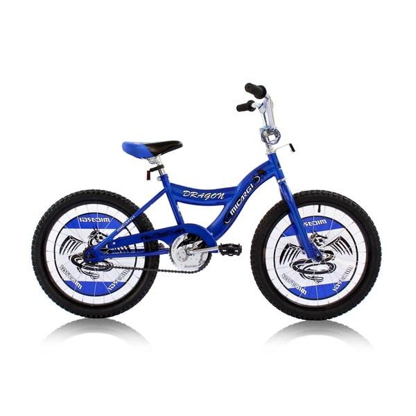 Boys Blue 20-inch BMX Bicycle Dragon