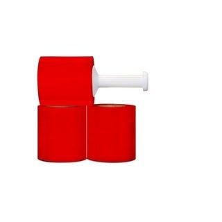 Narrow Banding 5-inch 80 Gauge 1000 Ft Red Stretch Wrap Film 24 Rolls