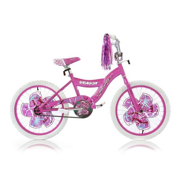 Girls Pink 20-inch BMX Bicycle Dragon