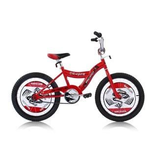 Boys Red 20-inch BMX Bicycle Dragon