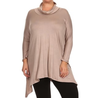 MOA Collection Plus Size Women's Cowl Neck Tunic