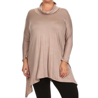 MOA Collection Plus Size Women's Cowl Neck Tunic (More options available)