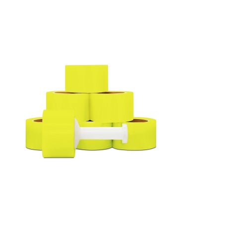 Narrow Banding 3-inch 80 Gauge 1000 Ft Yellow Stretch Wrap Film 36 Rolls