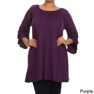 MOA Collection Plus Size Women's Trumpet Top (More options available)