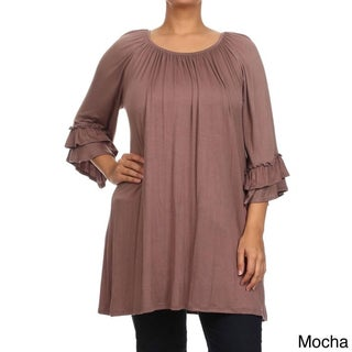 MOA Collection Plus Size Women's Trumpet Top (3 options available)