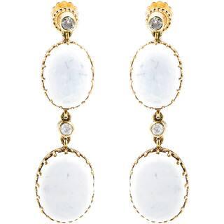 14K Yellow Gold 2/5ct TDW Antique Opal Dangling Earrings (J-K, I1-I2)|https://ak1.ostkcdn.com/images/products/11113261/P18115966.jpg?impolicy=medium