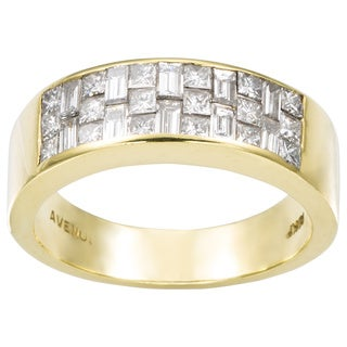 18k Yellow Gold 1 2/5ct TDW Invisible-set Diamond Band Estate Ring (G-H, VS1-VS2)