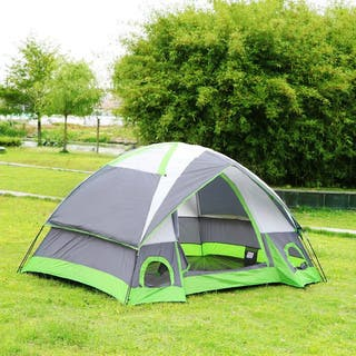 Semoo Waterproof D-Style Door 4-Person Camping/ Traveling Family Dome Tent with Compression Bag|https://ak1.ostkcdn.com/images/products/11113268/P18115951.jpg?impolicy=medium