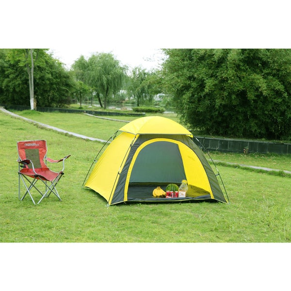 Semoo Half-Moon Style Door 3-Person Lightweight Camping/Traveling Family Dome Tent with Compression Bag
