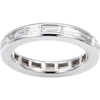 14K White Gold 3 1/2ct TDW Diamond Baguette Eternity Band Ring (H-I, VS1-VS2)
