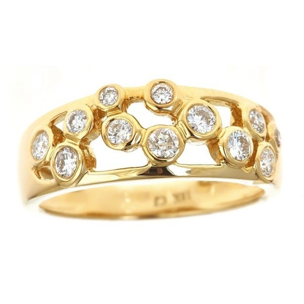 Anika and August 18k Yellow Gold 3/5ct TDW Diamond Cutout Ring (G-H, I1-I2)