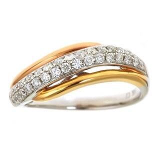 Anika and August 14k White Three-tone Gold 1/2ct TDW Diamond Ring (G-H, I1-I2)