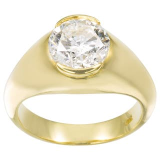 18k Yellow Gold 2 2/5ct TDW Diamond Estate Engagement Ring Size 6 (G-H, SI3)|https://ak1.ostkcdn.com/images/products/11113290/P18116081.jpg?impolicy=medium