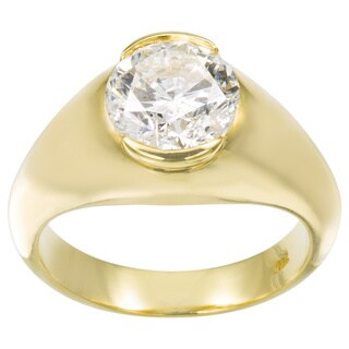 18k Yellow Gold 2 2/5ct TDW Diamond Estate Engagement Ring Size 6 (G-H, SI3)