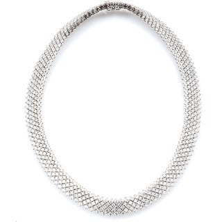14k White Gold 23 1/4ct TDW Estate Choker Diamond Necklace (G-H, SI1-SI2)