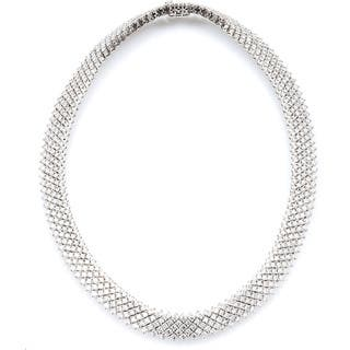 14k White Gold 23 1/4ct TDW Estate Choker Diamond Necklace (G-H, SI1-SI2)|https://ak1.ostkcdn.com/images/products/11113294/P18116085.jpg?impolicy=medium