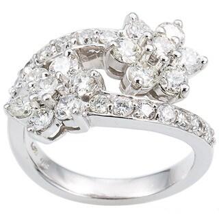 14k White Gold 1 3/4ct TDW Diamond Stars Estate Ring Size 6 (G-H, VS1-VS2)