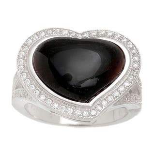 Pori Sterling Silver Black Onyx Pave Heart Ring|https://ak1.ostkcdn.com/images/products/11113302/P18116111.jpg?impolicy=medium