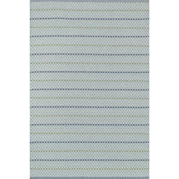 Indoor/ Outdoor Earth Tone Flatweave Mediterranean Stripe Rug - 9'3 X 13'