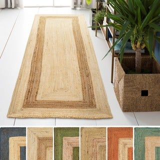 Hand-Woven Canada Jute Rug (2'6 x 8')