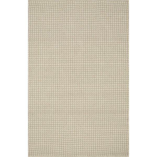 Indoor/ Outdoor Earth Tone Flatweave Oatmeal Rug (9'3 X 13')