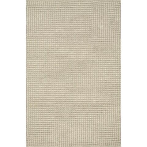 Indoor/ Outdoor Earth Tone Flatweave Oatmeal Rug - 9'3 X 13'